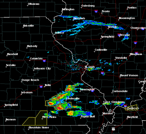 Radar Image for Severe Thunderstorms near Ironton, MO at 3/2/2020 6:09 PM CST