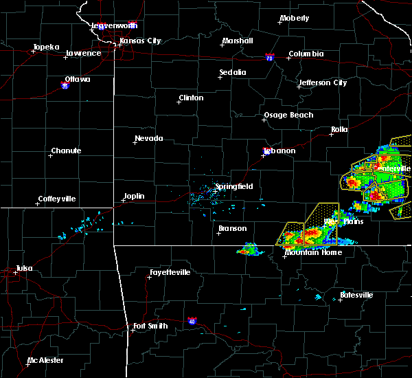 Radar Image for Severe Thunderstorms near Bakersfield, MO at 3/2/2020 6:10 PM CST