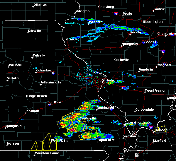 Radar Image for Severe Thunderstorms near Bunker, MO at 3/2/2020 6:15 PM CST