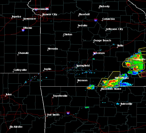 Radar Image for Severe Thunderstorms near Bakersfield, MO at 3/2/2020 6:21 PM CST