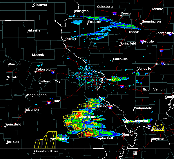 Radar Image for Severe Thunderstorms near Irondale, MO at 3/2/2020 6:27 PM CST