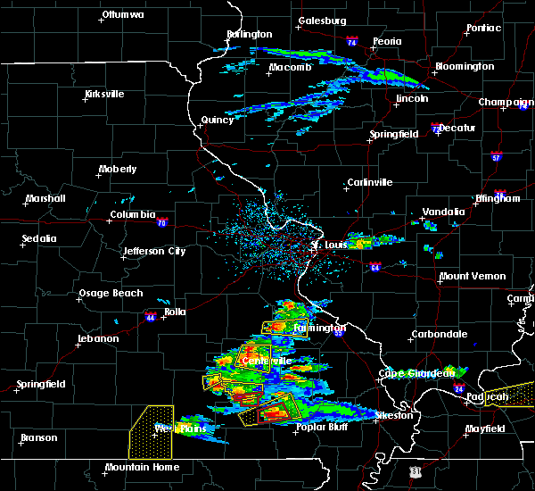 Radar Image for Severe Thunderstorms near Ironton, MO at 3/2/2020 6:33 PM CST