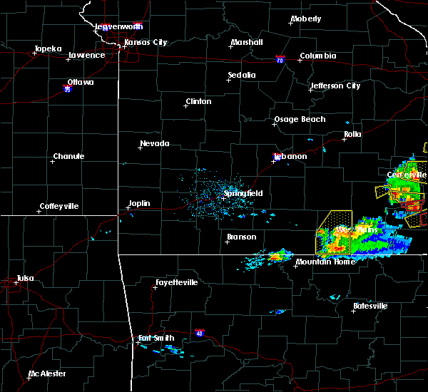 Radar Image for Severe Thunderstorms near Brandsville, MO at 3/2/2020 6:37 PM CST