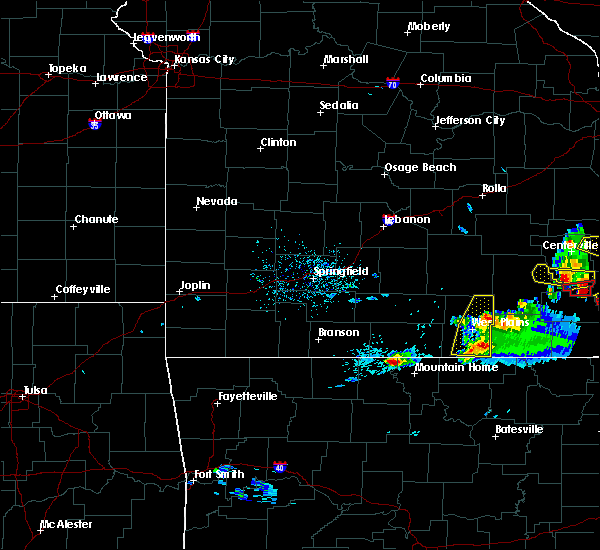 Radar Image for Severe Thunderstorms near Brandsville, MO at 3/2/2020 6:48 PM CST
