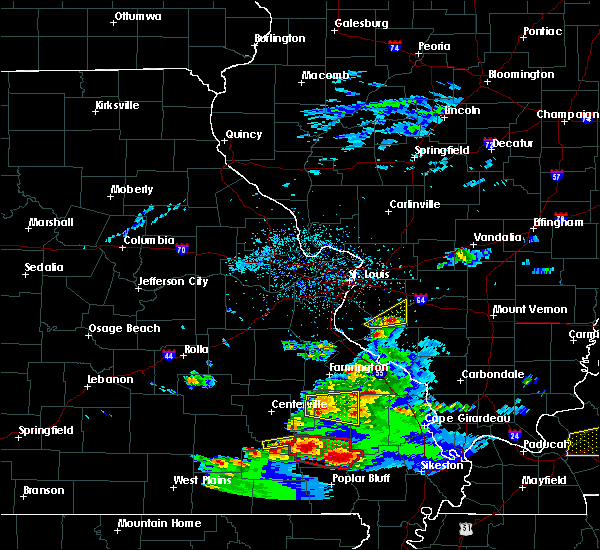 Radar Image for Severe Thunderstorms near Marissa, IL at 3/2/2020 7:14 PM CST
