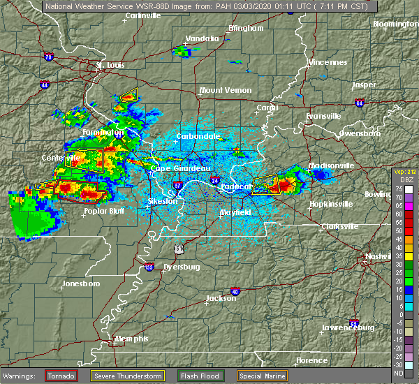 Radar Image for Severe Thunderstorms near Greenville, MO at 3/2/2020 7:14 PM CST
