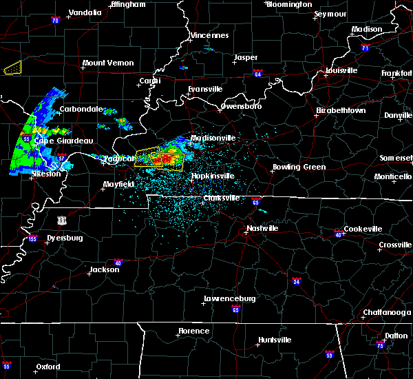 Radar Image for Severe Thunderstorms near Dawson Springs, KY at 3/2/2020 7:16 PM CST