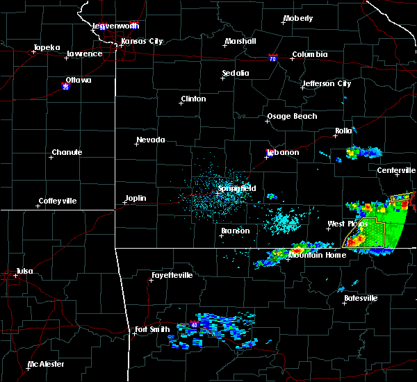 Radar Image for Severe Thunderstorms near Thayer, MO at 3/2/2020 7:20 PM CST