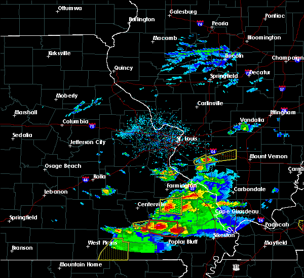 Radar Image for Severe Thunderstorms near Hoyleton, IL at 3/2/2020 7:23 PM CST