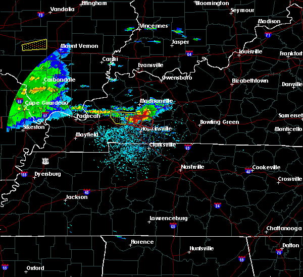 Radar Image for Severe Thunderstorms near Dawson Springs, KY at 3/2/2020 7:59 PM CST