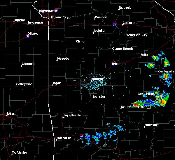 Radar Image for Severe Thunderstorms near Salem, AR at 3/2/2020 8:10 PM CST
