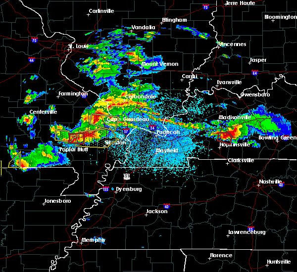 Radar Image for Severe Thunderstorms near Cape Girardeau, MO at 3/2/2020 8:15 PM CST