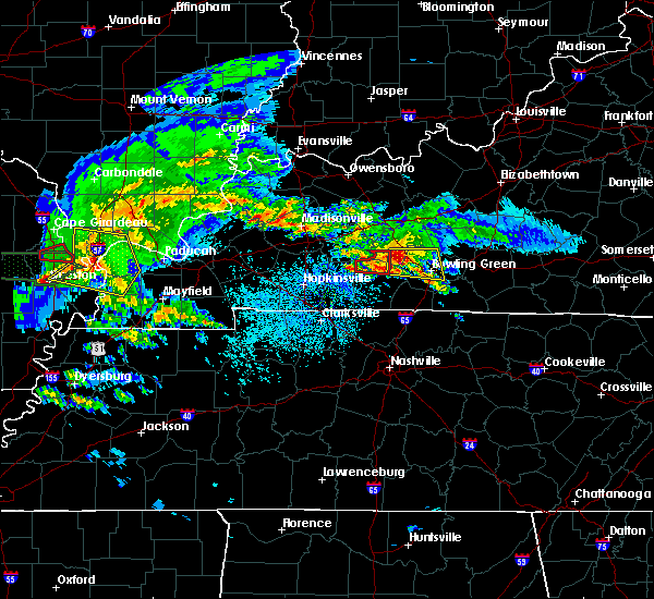 Radar Image for Severe Thunderstorms near Bowling Green, KY at 3/2/2020 9:14 PM CST