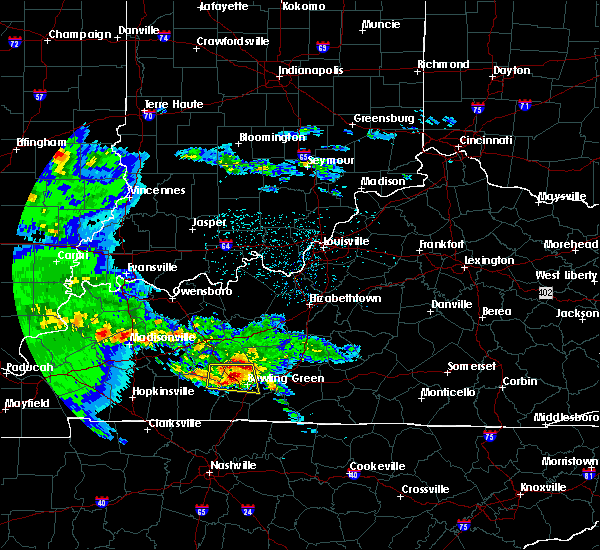 Radar Image for Severe Thunderstorms near Bowling Green, KY at 3/2/2020 9:33 PM CST