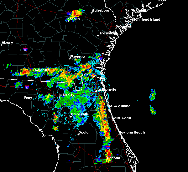 Radar Image for Severe Thunderstorms near Bunnell, FL at 6/24/2015 6:56 PM EDT