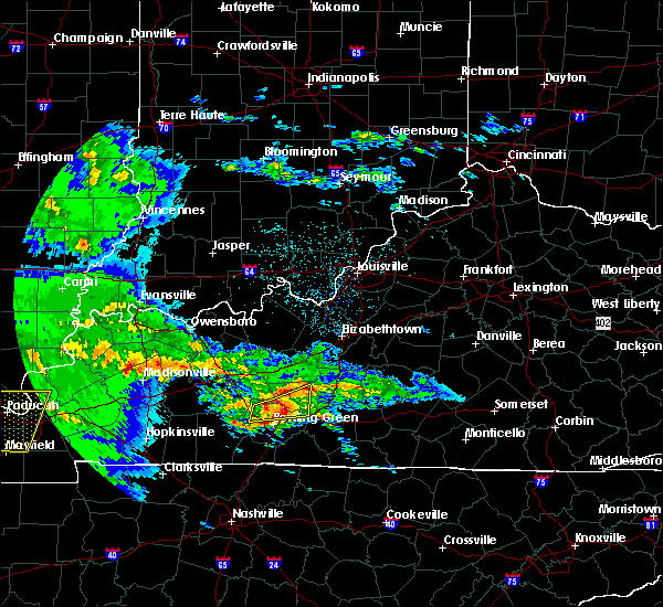 Radar Image for Severe Thunderstorms near Bowling Green, KY at 3/2/2020 9:54 PM CST