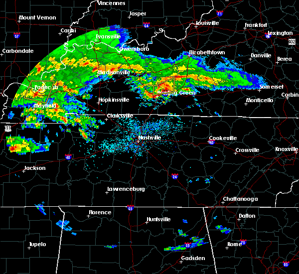Radar Image for Severe Thunderstorms near Bowling Green, KY at 3/2/2020 10:01 PM CST