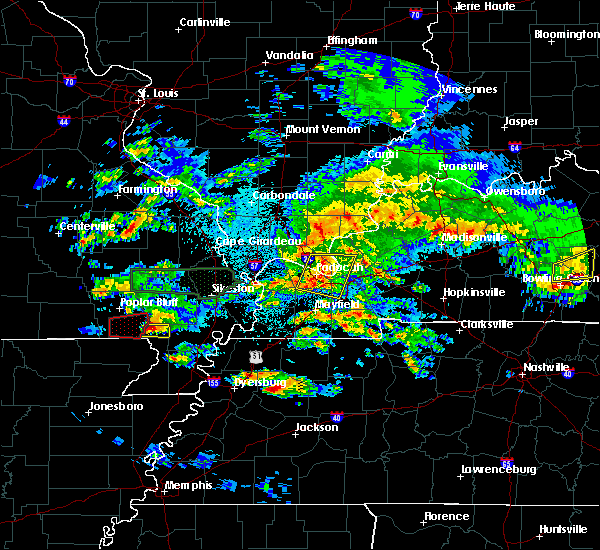 Radar Image for Severe Thunderstorms near Malden, MO at 3/2/2020 10:03 PM CST