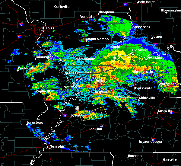 Radar Image for Severe Thunderstorms near Malden, MO at 3/2/2020 10:12 PM CST