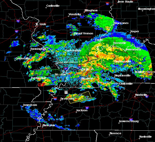 Radar Image for Severe Thunderstorms near Risco, MO at 3/2/2020 10:13 PM CST