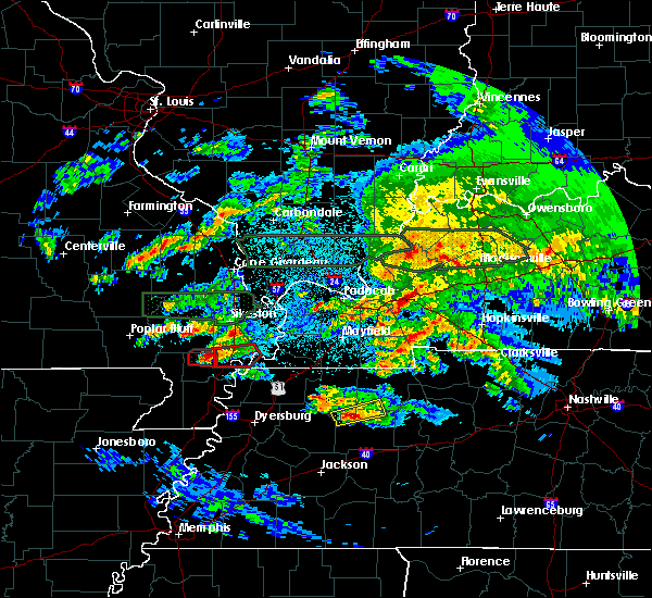 Radar Image for Severe Thunderstorms near New Madrid, MO at 3/2/2020 10:33 PM CST