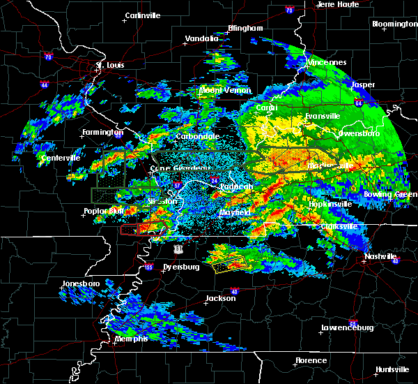 Radar Image for Severe Thunderstorms near Henry, TN at 3/2/2020 10:44 PM CST