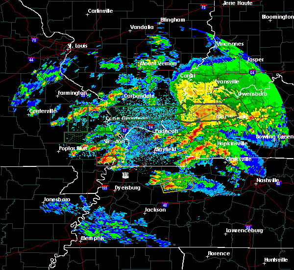 Radar Image for Severe Thunderstorms near New Madrid, MO at 3/2/2020 10:49 PM CST