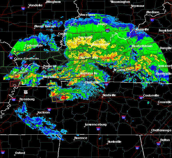 Radar Image for Severe Thunderstorms near Waverly, TN at 3/2/2020 11:16 PM CST