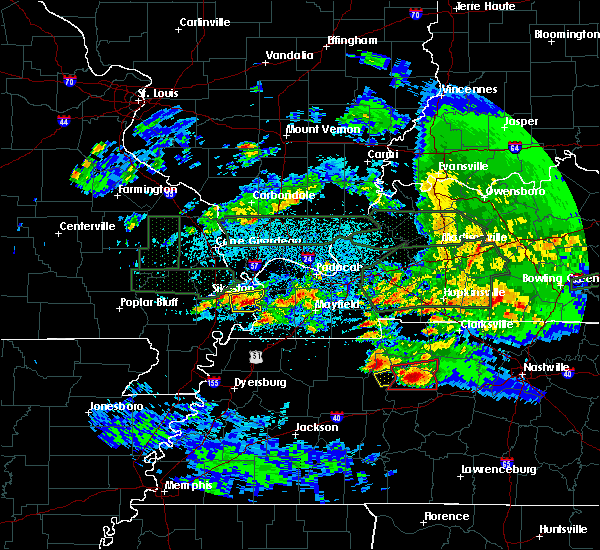Radar Image for Severe Thunderstorms near Anniston, MO at 3/2/2020 11:30 PM CST