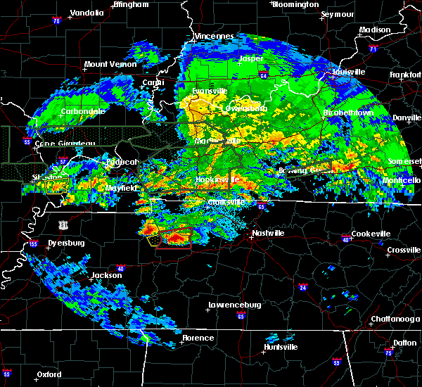 Radar Image for Severe Thunderstorms near Waverly, TN at 3/2/2020 11:34 PM CST