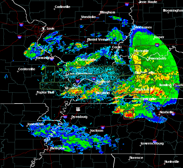 Radar Image for Severe Thunderstorms near Anniston, MO at 3/2/2020 11:40 PM CST