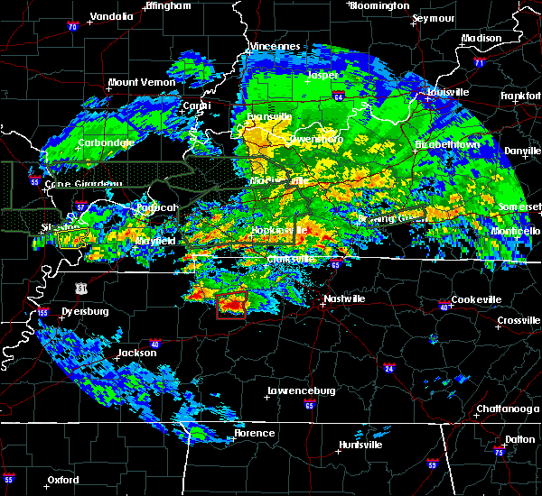 Radar Image for Severe Thunderstorms near White Bluff, TN at 3/2/2020 11:43 PM CST
