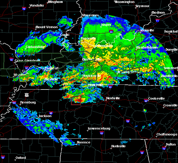 Radar Image for Severe Thunderstorms near Cumberland City, TN at 3/2/2020 11:46 PM CST