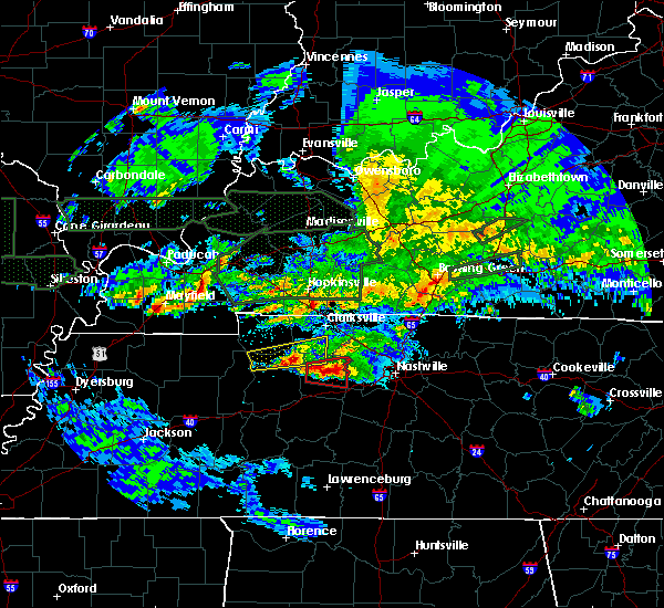 Radar Image for Severe Thunderstorms near White Bluff, TN at 3/3/2020 12:03 AM CST