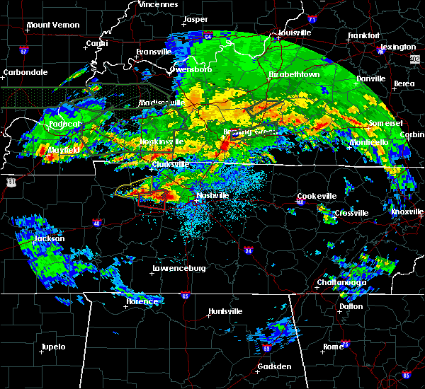 Radar Image for Severe Thunderstorms near Mount Juliet, TN at 3/3/2020 12:14 AM CST