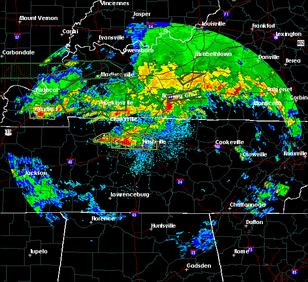 Radar Image for Severe Thunderstorms near Mount Juliet, TN at 3/3/2020 12:22 AM CST