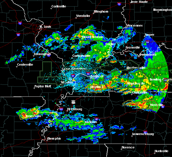 Radar Image for Severe Thunderstorms near Murray, KY at 3/3/2020 12:27 AM CST