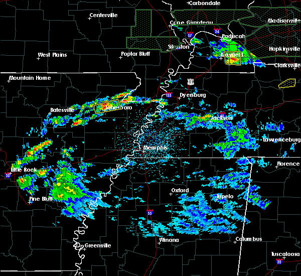 Radar Image for Severe Thunderstorms near Senath, MO at 3/3/2020 12:28 AM CST