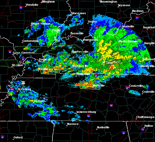 Radar Image for Severe Thunderstorms near Dexter, KY at 3/3/2020 12:36 AM CST