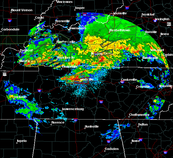 Radar Image for Severe Thunderstorms near Mount Juliet, TN at 3/3/2020 12:38 AM CST