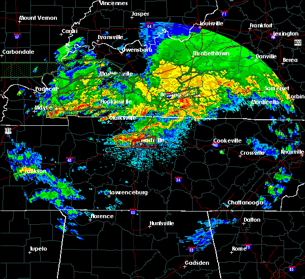 Radar Image for Severe Thunderstorms near Mount Juliet, TN at 3/3/2020 12:41 AM CST