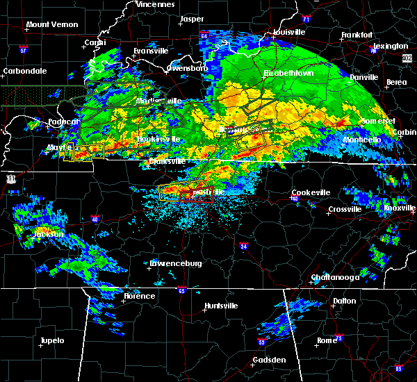 Radar Image for Severe Thunderstorms near Mount Juliet, TN at 3/3/2020 12:56 AM CST