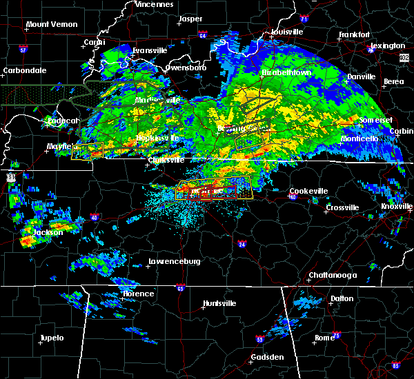 Radar Image for Severe Thunderstorms near Scottsville, KY at 3/3/2020 12:59 AM CST