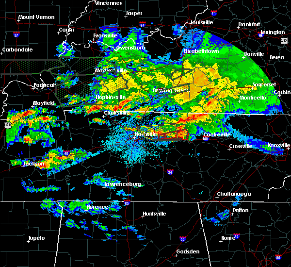 Radar Image for Severe Thunderstorms near Mount Juliet, TN at 3/3/2020 1:31 AM CST