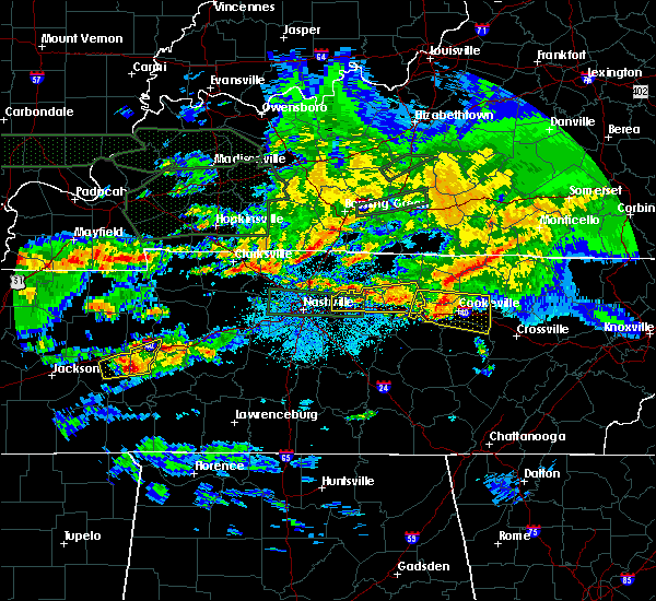 Radar Image for Severe Thunderstorms near Cookeville, TN at 3/3/2020 1:51 AM CST