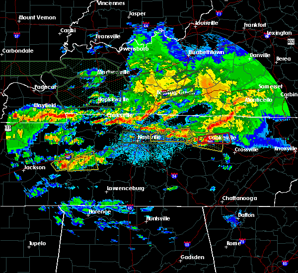 Radar Image for Severe Thunderstorms near Cookeville, TN at 3/3/2020 1:59 AM CST