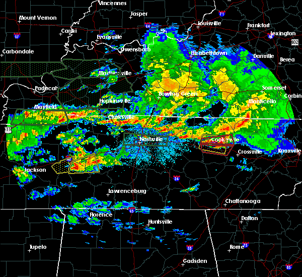 Radar Image for Severe Thunderstorms near Cookeville, TN at 3/3/2020 2:08 AM CST