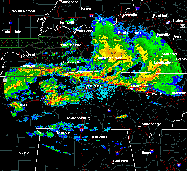 Radar Image for Severe Thunderstorms near Carthage, TN at 3/3/2020 2:21 AM CST