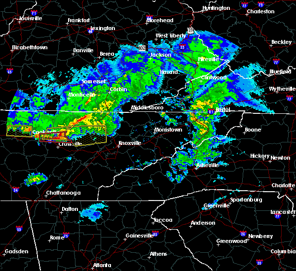 Radar Image for Severe Thunderstorms near Coalfield, TN at 3/3/2020 3:30 AM EST