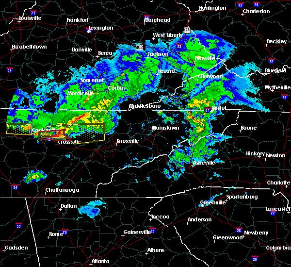 Radar Image for Severe Thunderstorms near Clarkrange, TN at 3/3/2020 2:31 AM CST